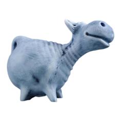 Статуэтка Хорошие сувениры Символ года: Корова стоит (авторский М. Бруй), 6.7см, 5221974 серый