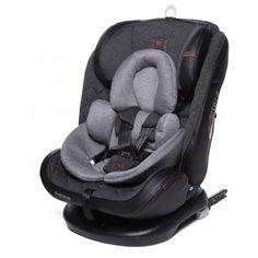 Автокресло группа 0/1/2/3 (до 36 кг) Baby Care Shelter Isofix, эко-темно-серый/светло-серый