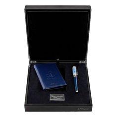 Подарочный набор: ручка и обложка для паспорта S.T. Dupont