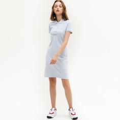 Платье-футболка женское Lacoste EF5473J2G голубое 40