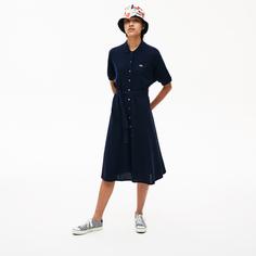 Платье-рубашка женское Lacoste EF5471166 синее 36