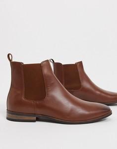 Кожаные ботинки челси French Connection-Светло-коричневый