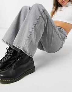 Серые широкие джинсы New Look-Серый