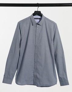 Рубашка мятного цвета узкого кроя в клеточку Ben Sherman-Зеленый