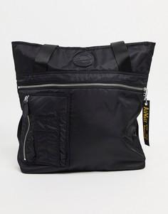 Черная нейлоновая сумка-тоут Dr.Martens Luxe-Черный