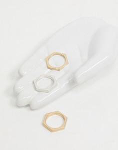 Белый поднос для украшений в форме ладони Monki