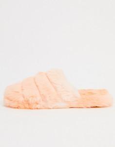 Оранжевые стеганые слиперы ASOS DESIGN-Оранжевый