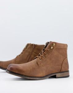 Коричневые массивные ботинки New Look-Коричневый