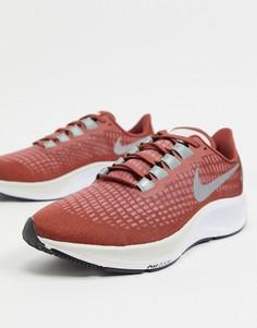 Красные кроссовки Nike Running Air Zoom Pegasus 37-Коричневый