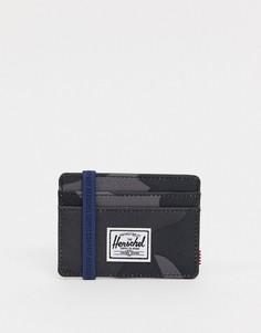 Черная камуфляжная визитница Herschel Supply Co Charlie-Черный