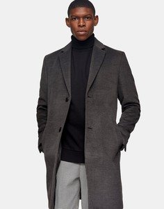 Серое пальто Topman-Серый