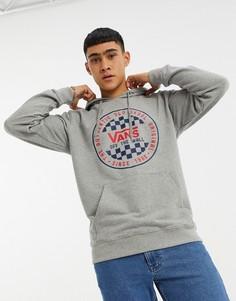 Худи с логотипом-принтом Vans-Серый