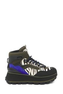 Комбинированные ботинки с анималистичным принтом Sonic Ash