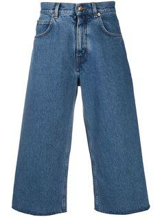 Versace укороченные джинсы широкого кроя
