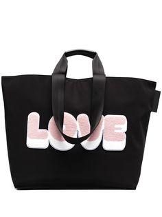 Sandro Paris сумка-тоут с фактурной нашивкой LOVE
