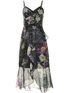 Marchesa Notte вечернее платье макси с цветочным принтом