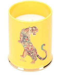 Etro свеча Ambre Baroque в керамическом подсвечнике