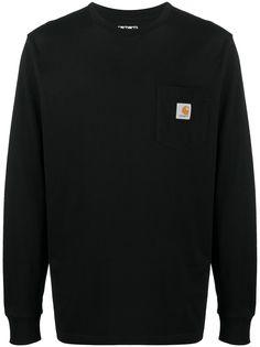 Carhartt WIP футболка с длинными рукавами и карманом