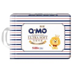 Q-MO подгузники Ultra Soft S (4-8 кг) 88 шт.