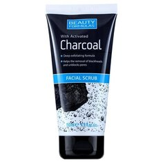 Beauty Formulas скраб Facial Scrub with activated Charcoal 150 мл