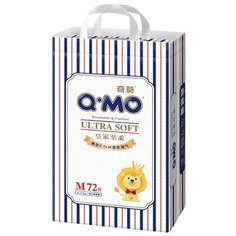 Q-MO подгузники Ultra Soft M (6-11 кг) 72 шт.
