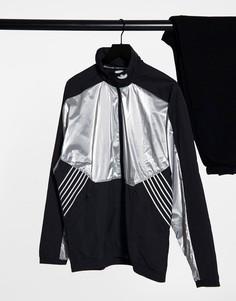 Олимпийка серебристого цвета adidas Originals-Серебристый