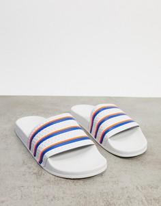 Белые шлепанцы adidas Originals Adilette-Белый