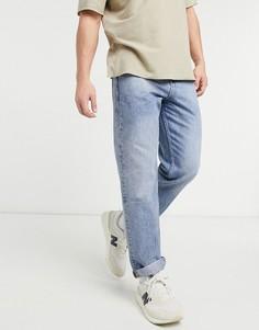 Голубые джинсы до щиколотки прямого кроя ASOS DESIGN-Голубой