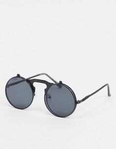 Черные круглые солнцезащитные очкиSVNX-Черный цвет