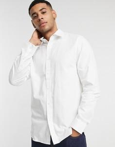 Белая оксфордская рубашка узкого кроя Ben Sherman-Белый