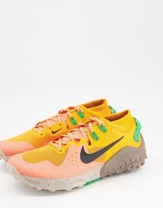 Оранжевые кроссовки Nike Running Wildhorse 6-Оранжевый