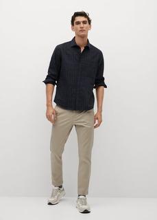 Фланелевая рубашка regular fit в клетку - Caba Mango