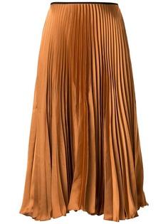 Eva атласная плиссированная юбка Lisa