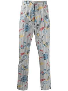 Moschino брюки с принтом