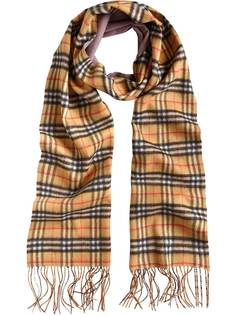 Burberry двухсторонний шарф с узором в клетку