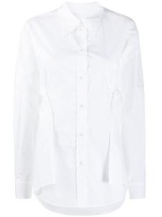 MM6 Maison Margiela рубашка с драпировкой и вставками
