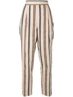 Tory Burch полосатые брюки прямого кроя