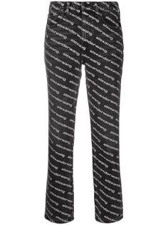 Alexander Wang расклешенные брюки с логотипом