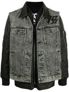 Diesel джинсовая куртка-бомбер с вышивкой