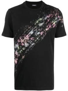 Diesel футболка с эффектом разбрызганной краски