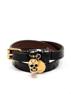 Alexander McQueen браслет с декором Skull