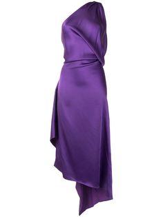 The Attico вечернее платье асимметричного кроя на одно плечо