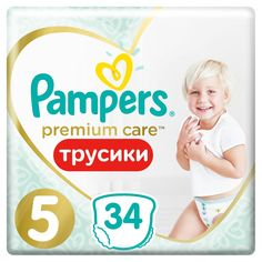 Подгузники-трусики Pampers Premium Care Pants, р. 5, 12-17 кг, 34 шт