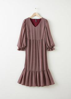 Платье макси с воланами Bonprix