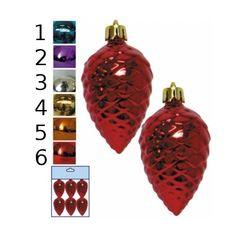 Набор из 6-ти елочных украшений Snowmen «Блестящая шишка», 6 см Е0109 цвет в ассортименте