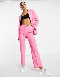 Розовые зауженные брюки в винтажном стиле ASOS DESIGN-Розовый цвет