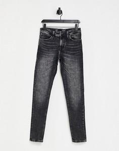 Серые выбеленные джинсы скинни Celio-Серый