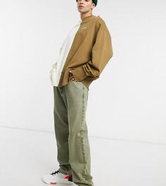 Желтые прямые джинсы вторичной окраски COLLUSION-Желтый