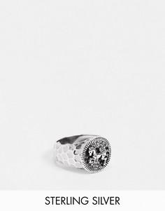 Кольцо-печатка из полированного стерлингового серебра с дизайном в виде лошади ASOS DESIGN-Серебристый