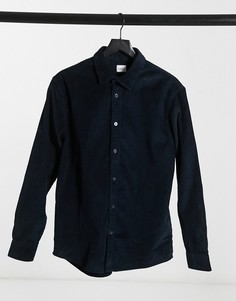 Темно-синяя вельветовая рубашка Celio-Темно-синий